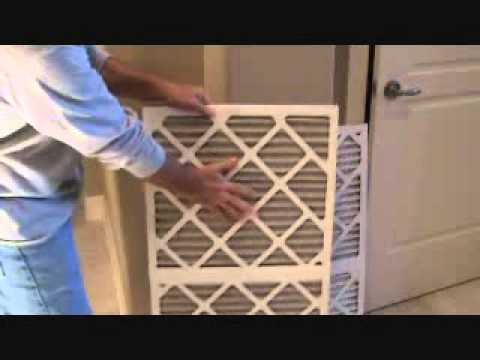 How to replace a heat & air home filter