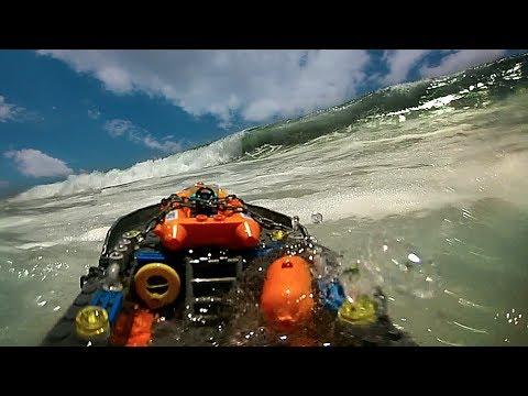 Lego Boat in Ocean 2