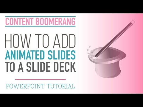 How to Create Animation Effect in PowerPoint / SlideShare presentation [PowerPoint tutorial]