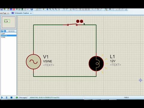 Proteus for beginners turorial#3 - Creating an AC Circuit