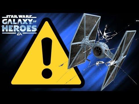 WARNING Tie Fighter is Broken! Star Wars: Galaxy Of Heroes