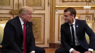 President Trump Participates In A 1:1 Bilateral Meeting With The President Of France