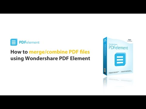 How to: Combine Multiple PDF files into One File by using PDFelement