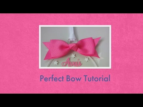 Perfect bow tutorial