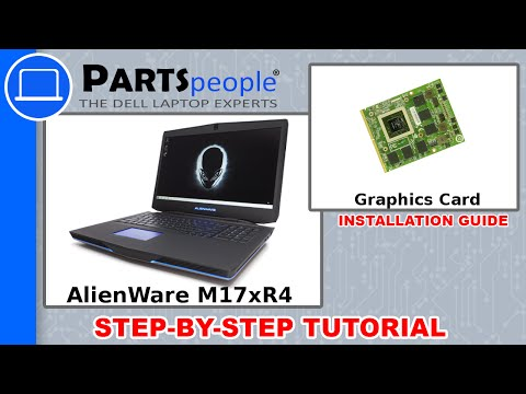 Dell AlienWare M17xR4 Graphics Card (GPU) Replacement Video Tutorial