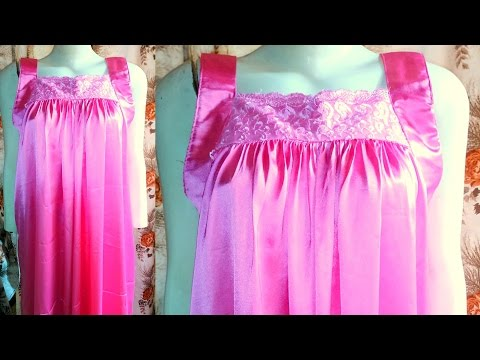 How to make a Nighty   Nighty drafting, cutting and stitching step by step tutorial