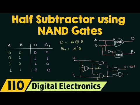Realizing Half Subtractor using NAND Gates only