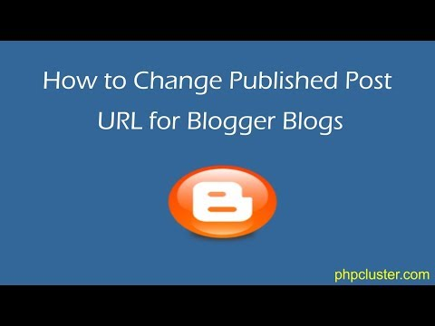 How to Change Published Post URL for Blogger Blogs