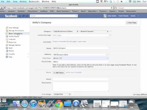 How to Add or Edit Information in a Facebook Business Page