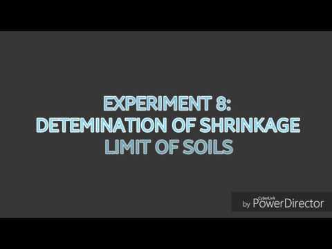 Determination of Shrinkage Limit