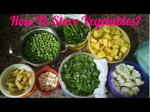 How to store vegetables in the fridge? Tips and tricks to store leafy vegetables in Hindi 2018