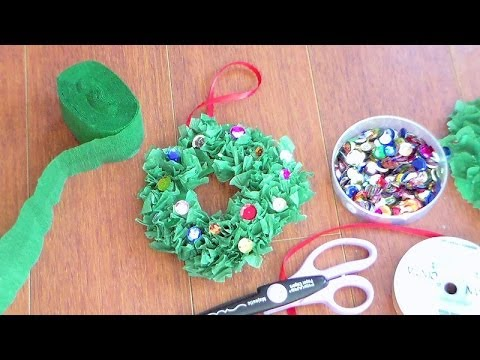 christmas Wreath ornament for kids to make