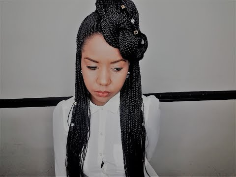 ❤ Hair ❤ - Half Updo With Senegalese Twist