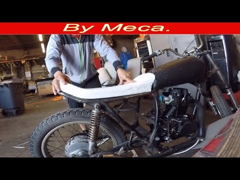 How to shape Foam on motorcycle seat - motorcycle seat cover