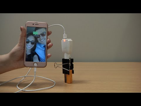 Make your own portable phone charger with a BATTERY! (Demo)