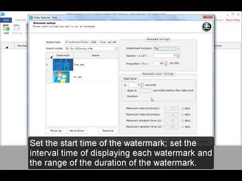 Simple steps on Creating A Video Spinner Task on VideoTweeter