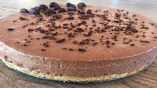 შოკოლადის ჩიზქეიქი ცხობის გარეშე / Chocolate CheeseCake