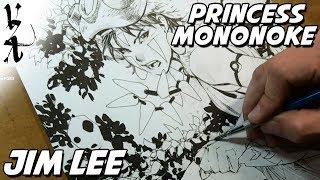 Speed Drawing San Princess Mononoke