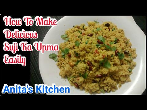 How to make Suji ka upma in hindi   Suji ka upma   Rawa upma