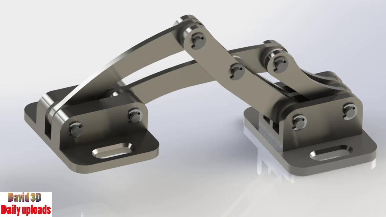 Stainless Steel Marine Hinge Mechanism    Download free 3D cad models #5055