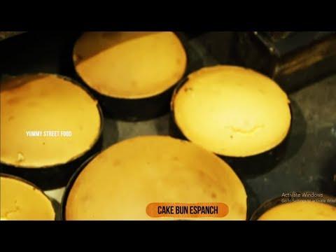 Cake Bun Espanch | Sponge Cake Bun | Yummy Streeet Food
