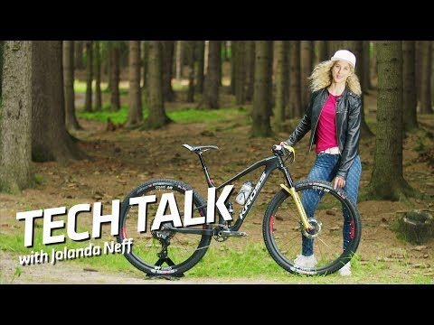 First look at Shimano's new XTR on Jolanda Neff's brand new MTB. | UCI MTB 2018