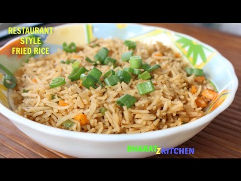 Restaurant Style Vegetable Fried Rice | Veg Fried Rice | Chinese Fried Rice Recipe | bharatzkitchen