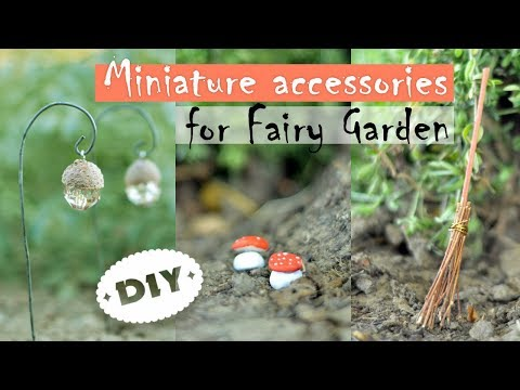 DIY Miniature Accessories for Fairy Garden - Lantern | Mushroom | Broom