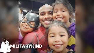 Army dad uses super hero costume in epic homecoming | Militarykind