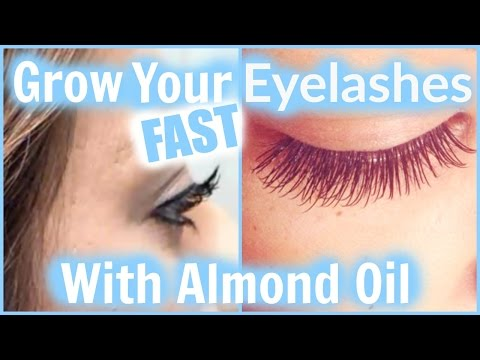 How To Grow Your Eyelashes FAST & LONG With Almond Oil! │ DIY For Naturally Longer Fuller Lashes