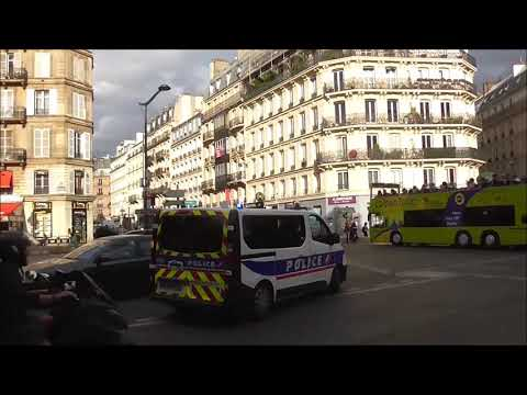 Police en Urgence Paris ( Police Cars Responding ) ( Paris Police Emergency )