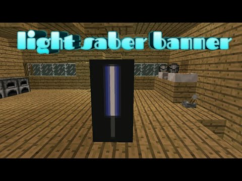 How to make a light saber banner in minecraft