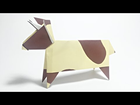 COW ORIGAMI TUTORIAL | ANIMALS ORIGAMI