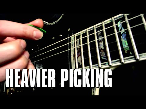 Guitar pick + fingernails = thicker pick attack