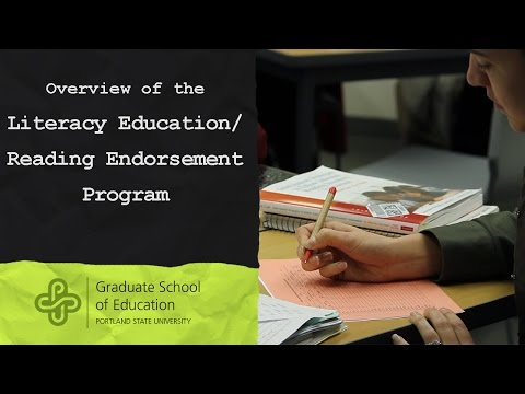 Overview of the Literacy Education/Reading Endorsement | Portland State University