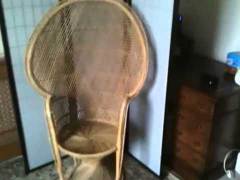 Bamboo peacock chair