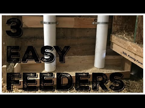 3 EASY DIY Chicken Feeders