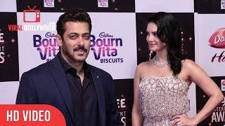 Sunny Leone And Salman Khan At Big Zee Entertainment Awards 2017 | BigZeeAwards