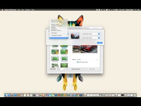 how to set hot/active  corners on mac?
