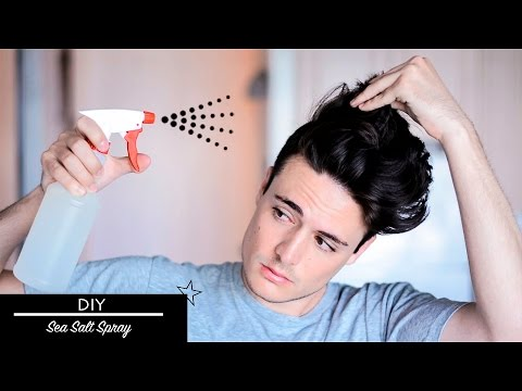 Mens Hair DIY: Sea Salt Spray | Messy Texture Beachy Hairstyle