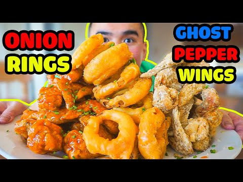 How to make ONION RINGS & GHOST PEPPER WINGS