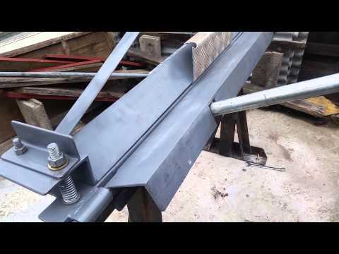 Homemade sheet metal bending