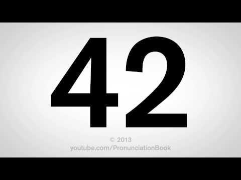 How to Pronounce 42