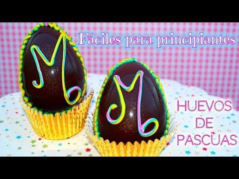 Huevos de pascuas FACILES con glase de colores