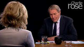 Charlie Rose gazing creepy while interviewing Jennifer Lawrence