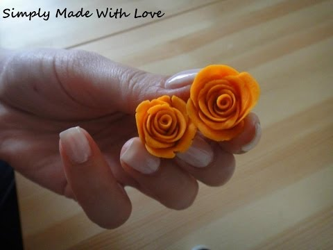 How to make a simple 3D polymer clay Rose in 5 minutes  Tutorial