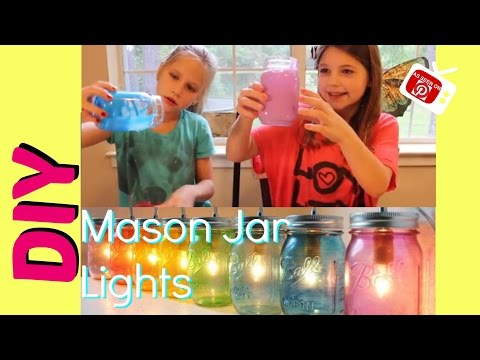 DIY Mason Jar Lights | Easy Glass Tinting 2 Ingredients | Mason Jar DIY