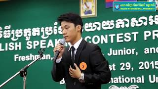 Khmer Students English speaking contest