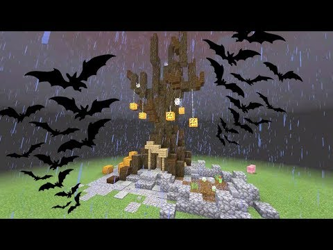 SPEED BUILDING A SPOOKY TREE HOUSE in Minecraft!