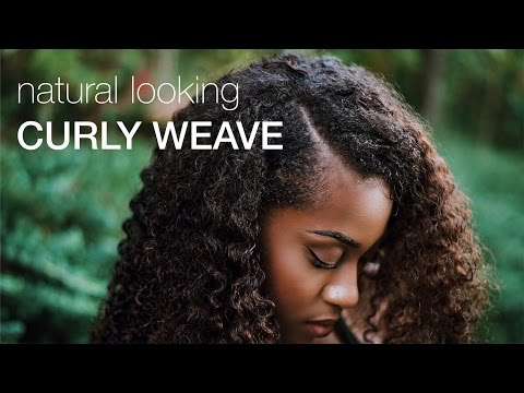 NATURAL LOOKING KINKY CURLY WEAVE | HerGivenHair